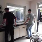 Slopen oude keukenblok